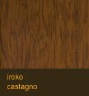 Iroko color castagno