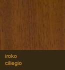 Iroko color ciliegio