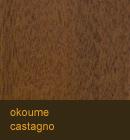 Okoume color castagno